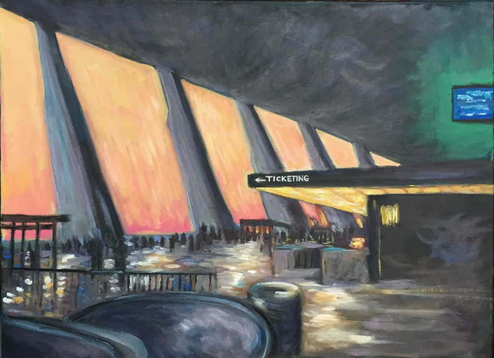 """Dulles - oil on canvas - 18x24"""""""