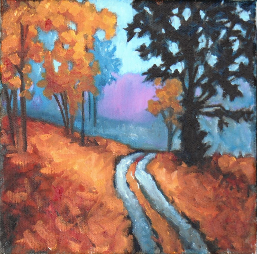 """Fall - oil on canvas - 6x6"""""""