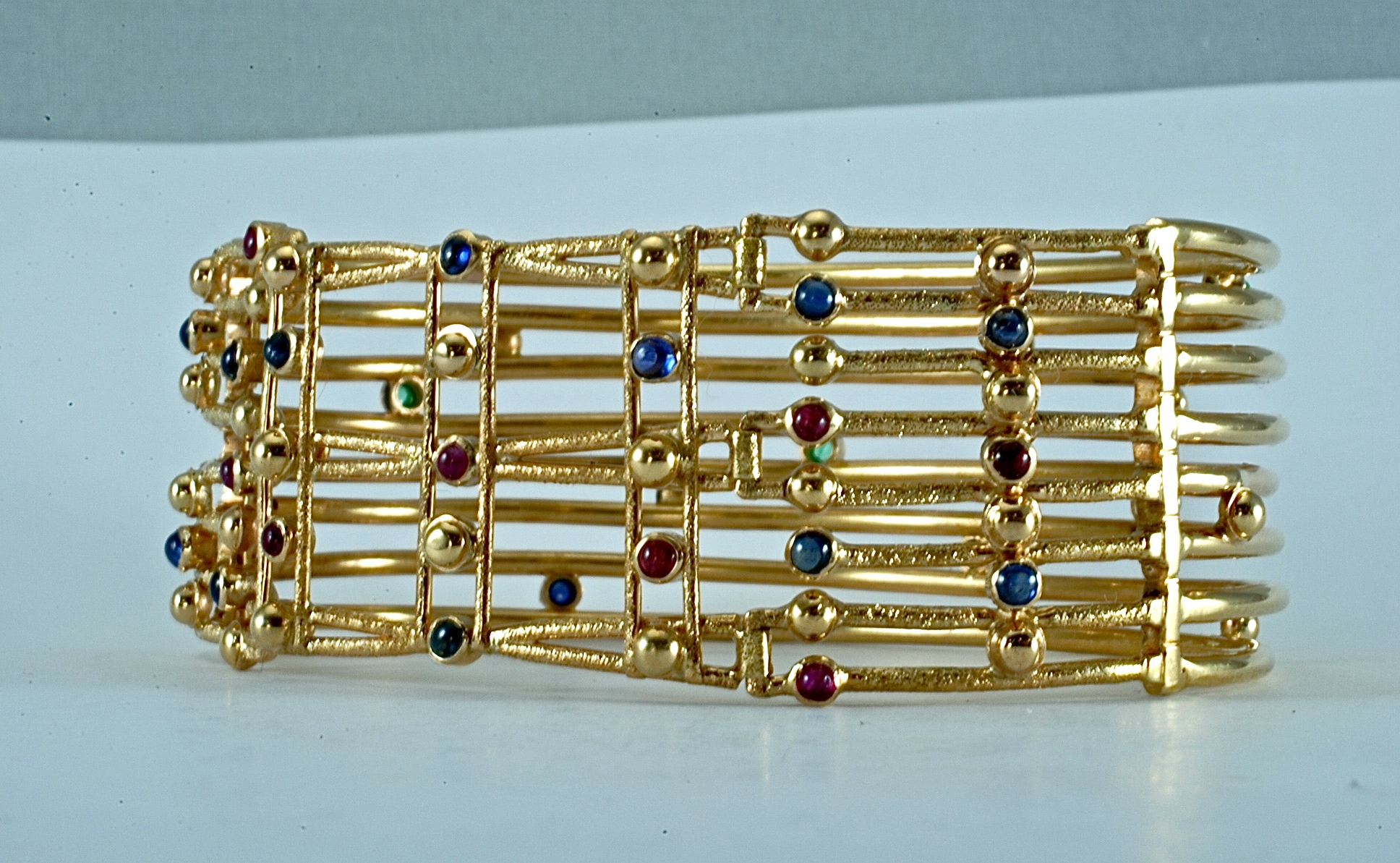 Other side of 14kt yellow gold reversible bracelet (see #16). 2001.