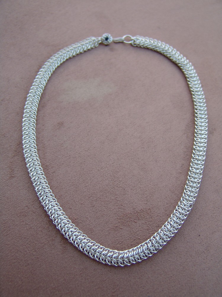 This weave is called Interwoven, sterling silver necklace