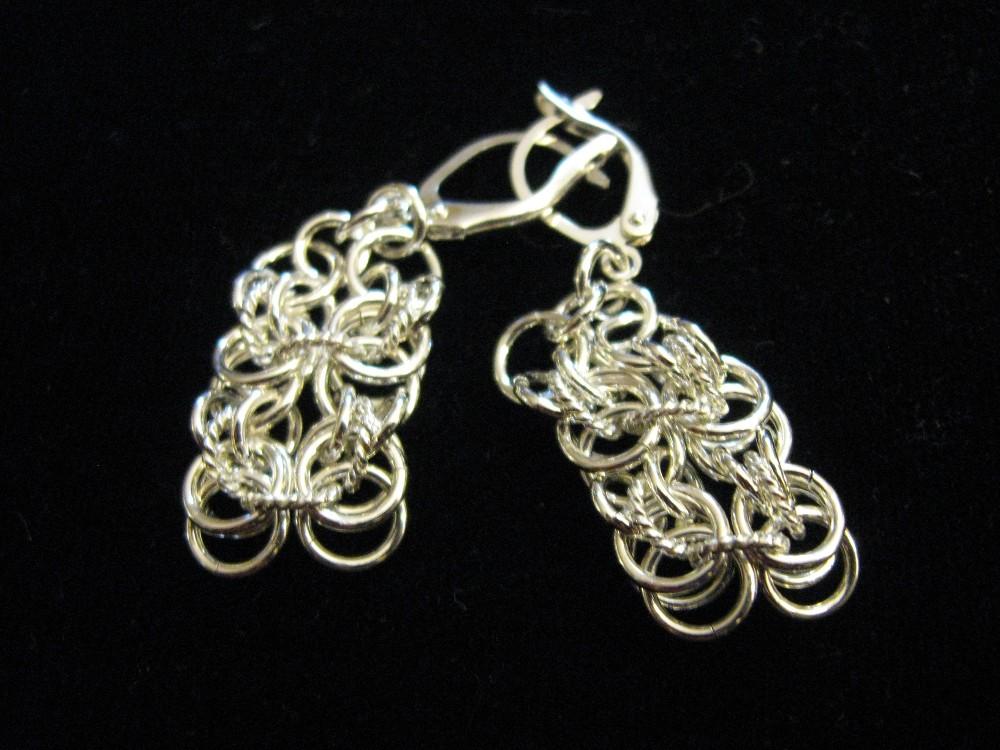 Lutra weave earrings in sterling silver