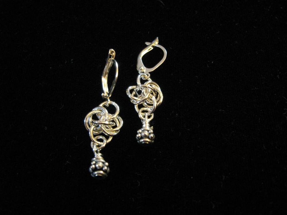 Persephone weave sterling silver earrings