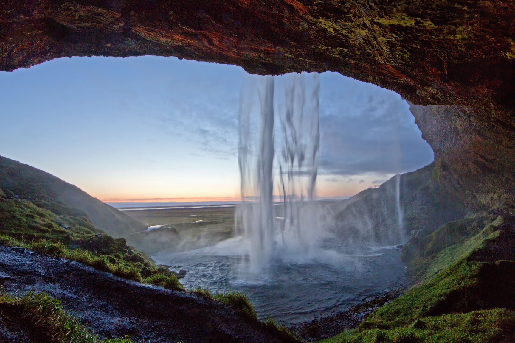 Behind the Falls, Iceland