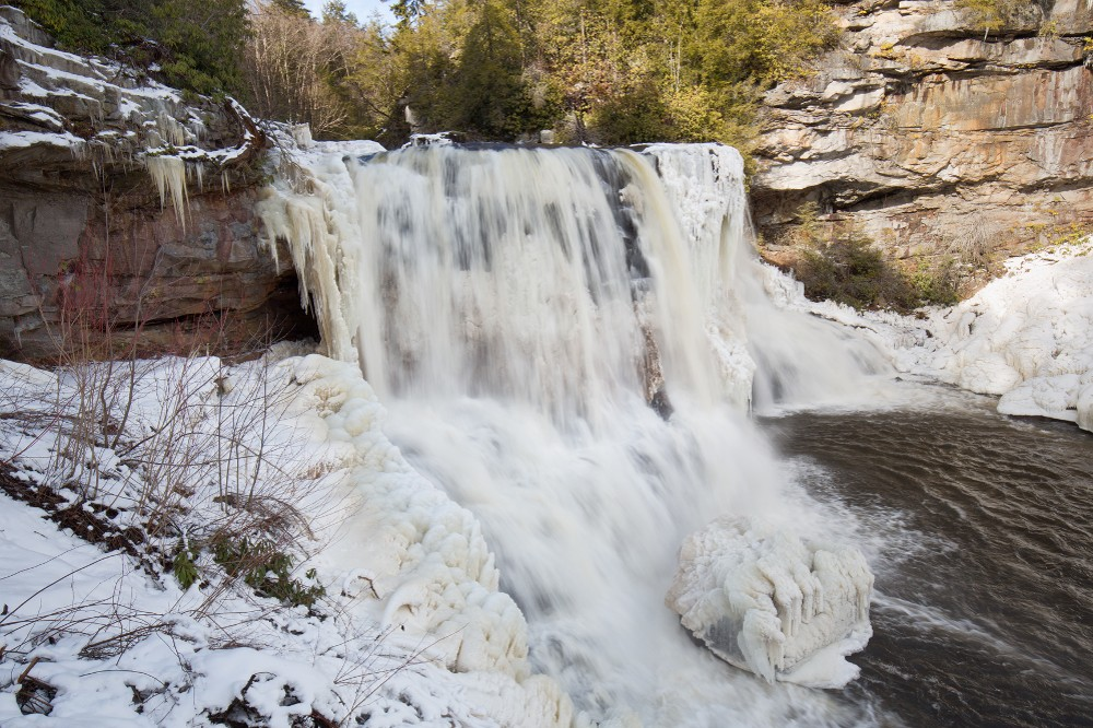Frozen Blackwater Falls, WV