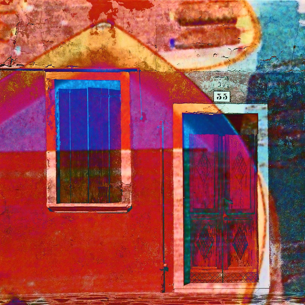 "Burano - archival inkjet print of photomontage - 10x10"" - 2017"