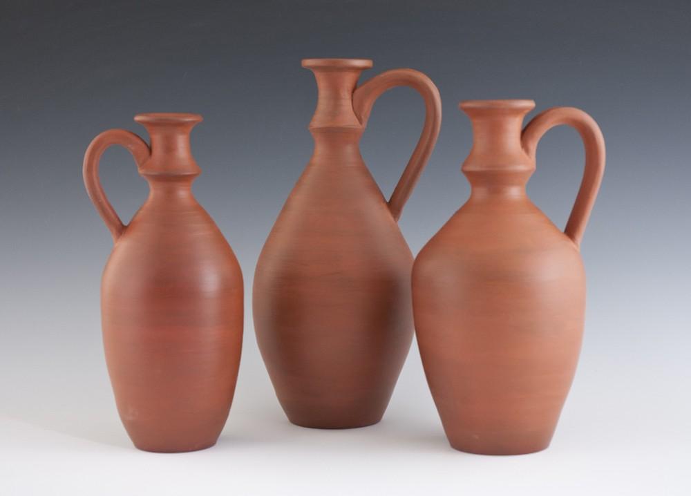 "Phoenician Jars - 7""-5"" - Stoneware and Terra Sigillata - 2016"