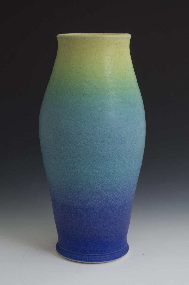 """Graduated Glazed Vase - 14"""" - 2016"""