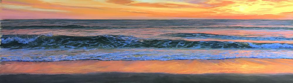"""""""Radiant Sunrise"""" - pastel - 31x9"""""""