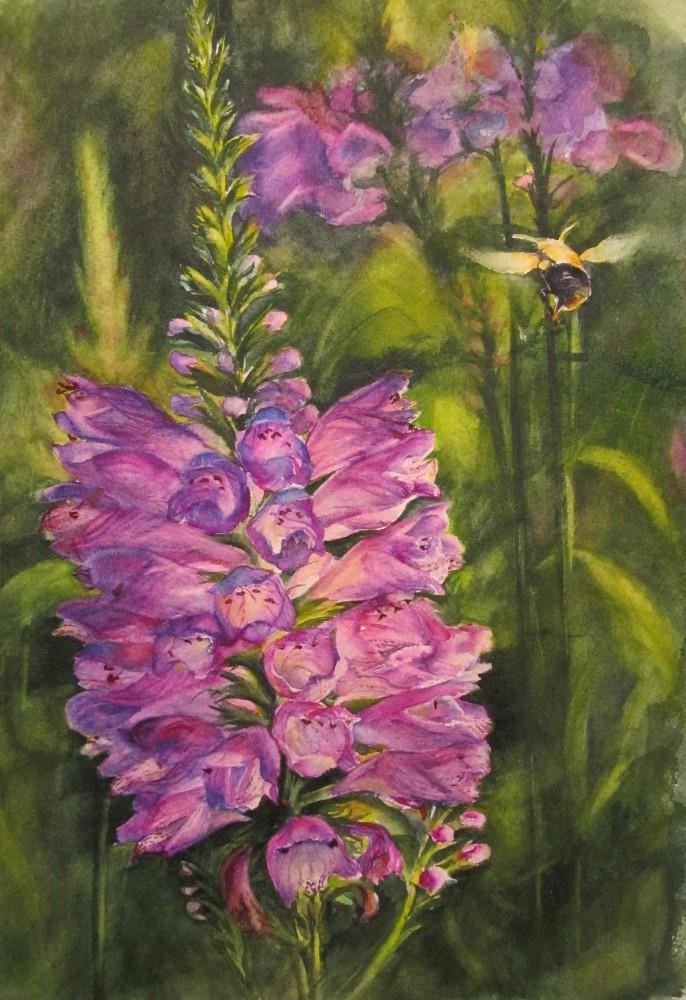"""""""Bee Obedient"""" - watercolor - 9x12"""""""