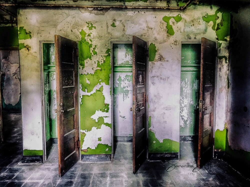 """Secrets behind doors - photography on metal or printed/matted - 30x24"""" - 2017"""