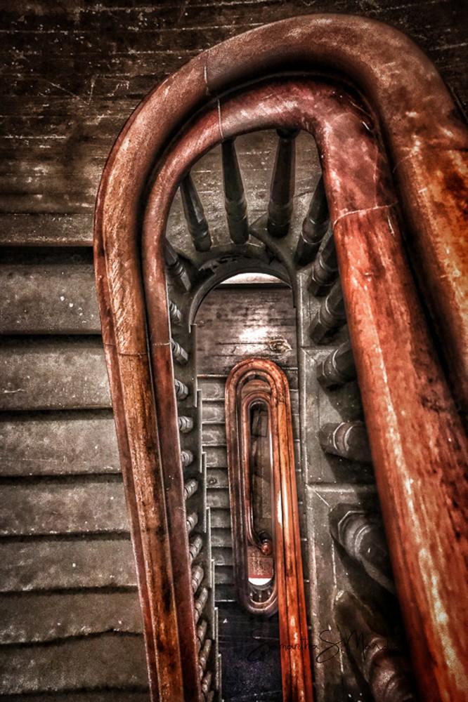 "Spiraling Upward - photography on metal or printed/matted - 12x18"" - 2017"